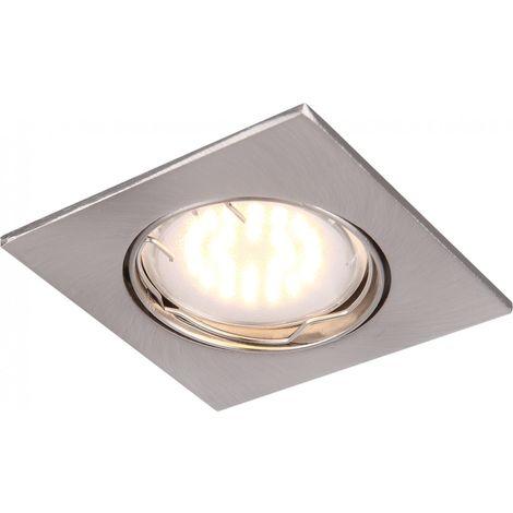 Spot encastré LED aluminium nickel mat encastrable intégré éclairage lampe DEL