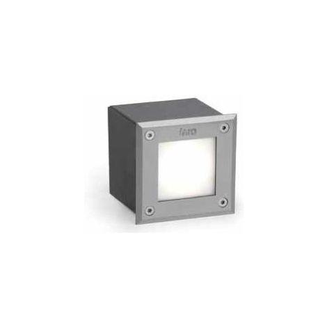 Spot encastré led Faro Led-18 Nickel mat acier inoxydable 71497N