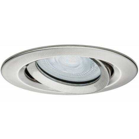 Spot encastré LED Nova orientable - Acier brossé - 35W - IP65 - Non dimmable - Sans ampoule
