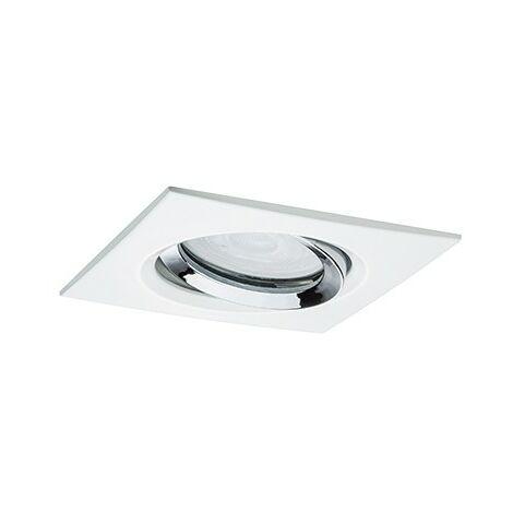 Spot encastré LED Nova orientable - Blanc dépoli - 7W - 2700K - IP65 - Dimmable - Avec ampoule