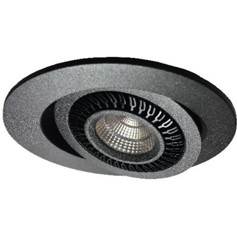Spot encastré LED orientable SWING noir mat