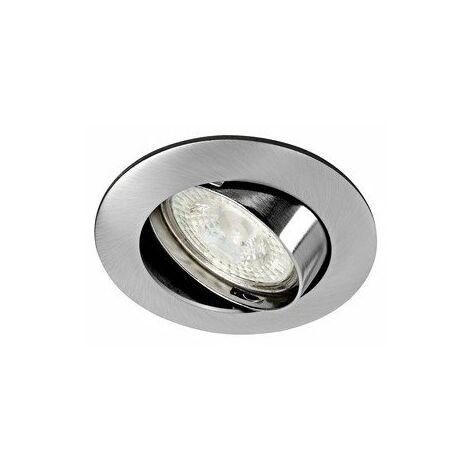 Spot encastré Lunar orientable - 4,5W - 3000K - 405lm - Rond - Dimmable - Avec ampoule - Nickel