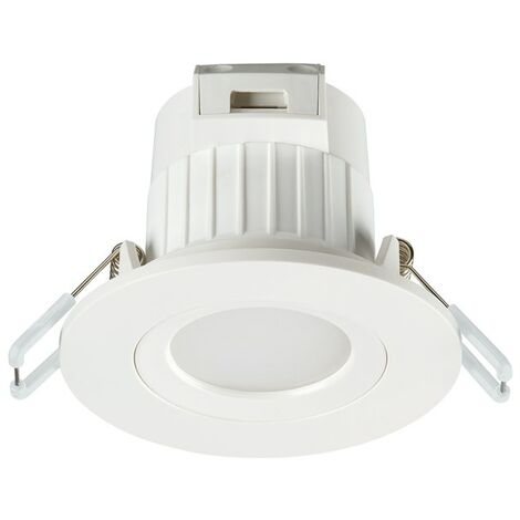 SPOT ENCASTRE ORIENTABLE DIMMABLE BLANC BRILLANT 4000K LED IP20 5,5W - BLANC - SYLVANIA