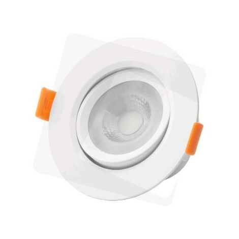 SPOT ENCASTRE ORIENTABLE ROND LED IP20 6W 430 LUMENS - BLANC CHAUD