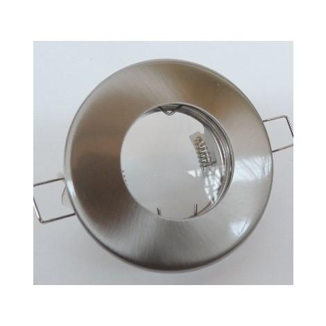 Spot encastré SDB Ø 85mm acier inox fixe pour lampe MR16 GU5.3 50W max 12V (non incl) IP20 étanche IP54 DEKO LIGHT 122420