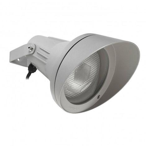 Spot Esparta orientable, aluminium et verre, gris