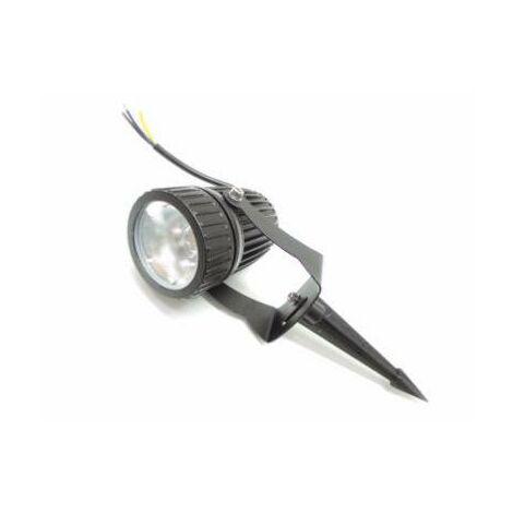 2 x Spot Exterieur LED Jardin avec Piquet COB Noir Blanc Froid 5W 220V