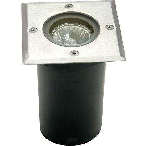 Spot extérieur encastrable GU10 ECO-Light Berlin 1 7005 B-GU10 35 W argent