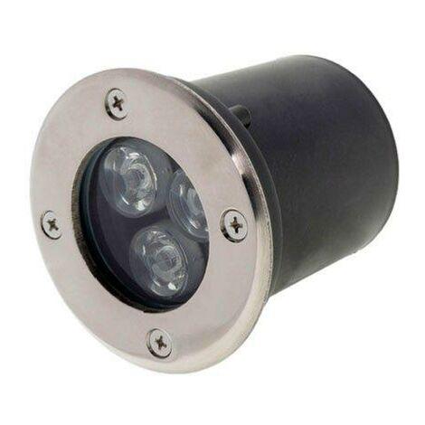 Spot Extérieur Encastrable LED IP65 220V Sol 3W 18° - Blanc Froid 6000K - 8000K