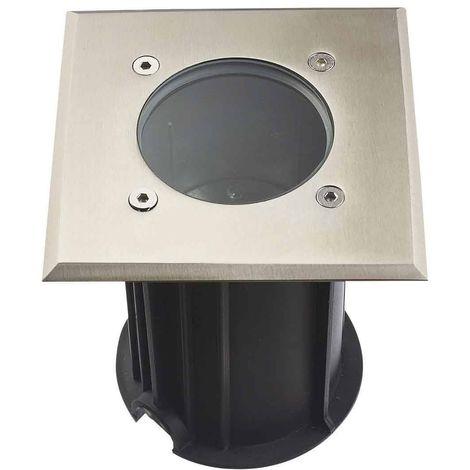 "main image of ""Spot GU10 Carré étanche IP67 Verre clair, Inox Plein 316L, collection Orlando HIPOW"""