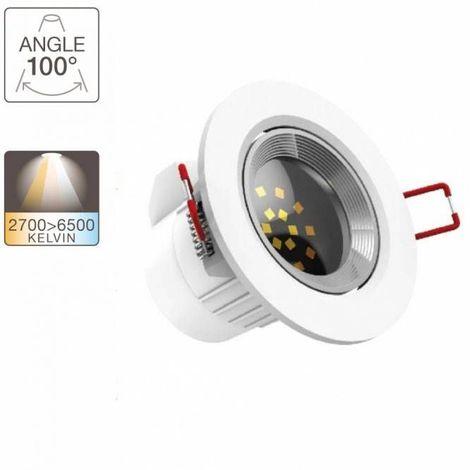 Spot intégré LED - 345 lumens - variation de température de lumière | Xanlite