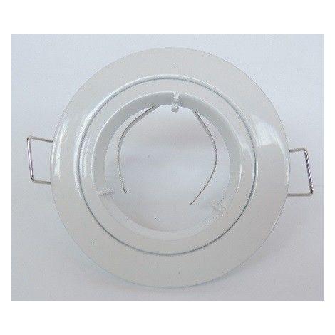 Spot intérieur BE GOOD rond, blanc, fixe 1/4 tour. Collerette de Ø 81 mm. IP20, SEET EUROPOLE 2615