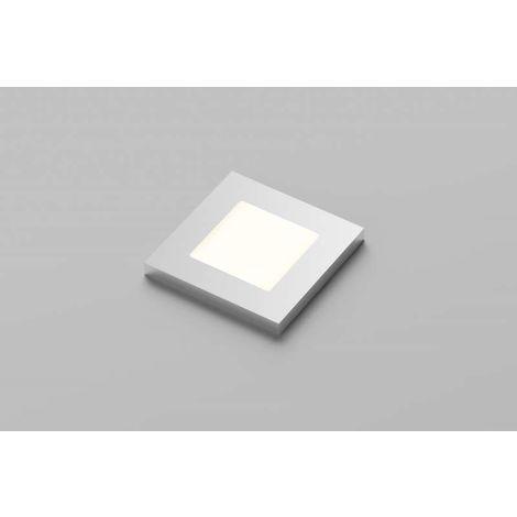 Spot led 12v extra-plats lucky carré - : - Type d'éclairage : LED - Température de couleur : 4000 K - Puissance : 2 W - : - Fixation : En applique - Couleur de la lumière : Blanc neutre - Indice