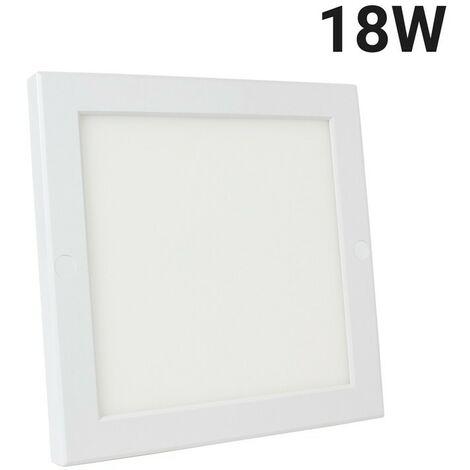 Spot LED 18W carré saillie