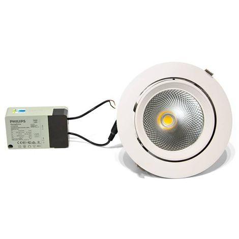 Spot LED 32W encastrable rond à bascule 3587lm