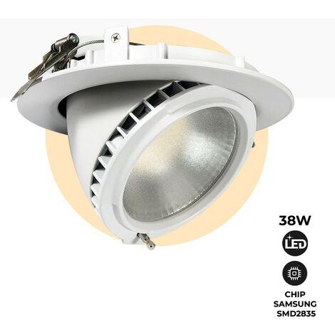 Spot LED 38W encastrable orientable