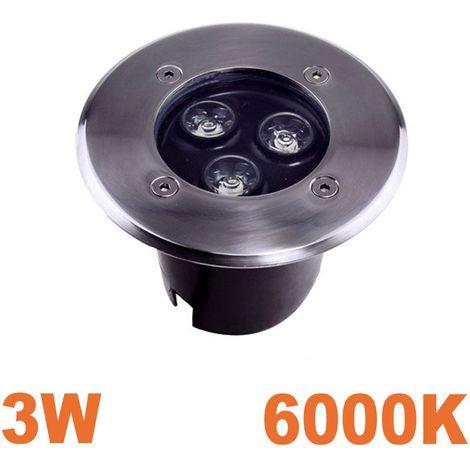 Spot LED 3W Encastrable Sol Exterieur Étanche IP65 Blanc Froid 6000K