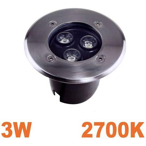 Spot LED 3W Encastrable Sol Exterieur IP65 Blanc Chaud 3000K