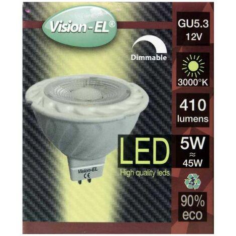 Spot LED 6W 12V à culot MR16 blanc chaud dimmable