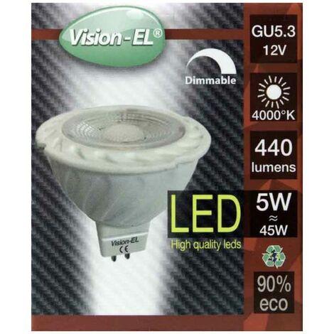 Spot LED 6W 12V à culot MR16 blanc neutre dimmable