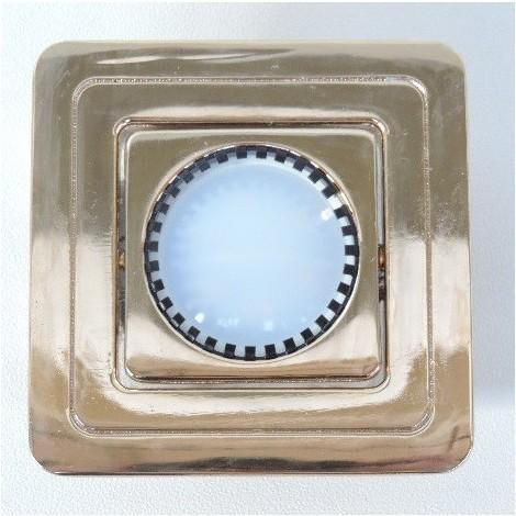 Spot LED 6W carré 105X105mm doré orientable avec lampe 3000K 500lm GU5.3 12V et driver 230V SUPERTOP KEN TRAJECTOIRE 44103LED