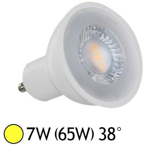 Spot LED 7W (60W) GU10 COB 38° Blanc chaud 3000°K