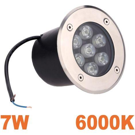Spot LED 7W Encastrable Sol Extérieur Étanche Blanc Froid 6000K