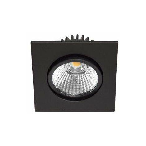 Spot LED AL1014 SDX encastré en fonte d'aluminium - Orientable - 9W - 820Lm - Carré - Noir mat - Dimmable