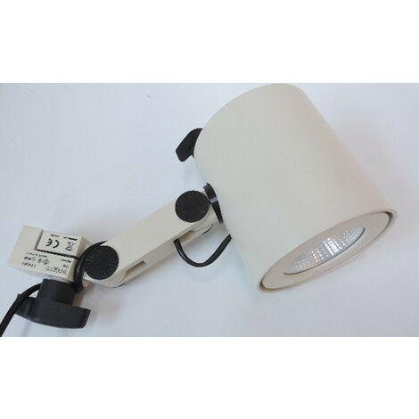 Spot LED Blanc 18W 3000K sur Patère pour Rail FLORENTIN TARGETTI 1T4551