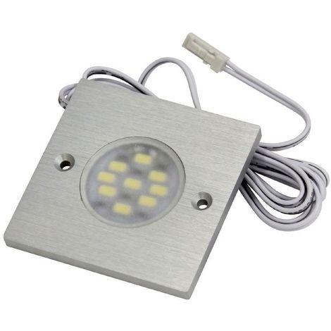 Spot led carré 12v extra-plat - : - Type d'éclairage : LED - Température de couleur : 6000 K - Puissance : 3 W - : - Fixation : En applique - Couleur de la lumière : Blanc froid - Indice de prote