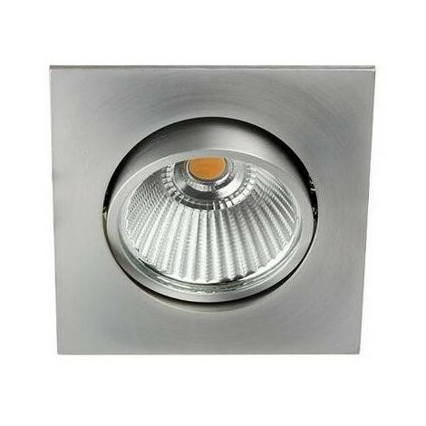 Spot LED Carré 6W 3000K Alu (AL1014S25)