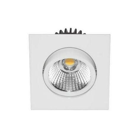 Spot LED Carré 6W 3000K blanc mat