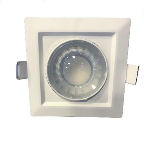 Spot LED carré encastrable carré blanc LED 8W (60W) compact