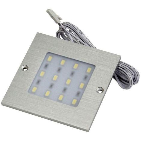 Spot led carré extra-plat - 12 led - 12 v - 5 w - Température de couleur : 6000 K - Couleur de la lumière : Blanc froid - ITAR