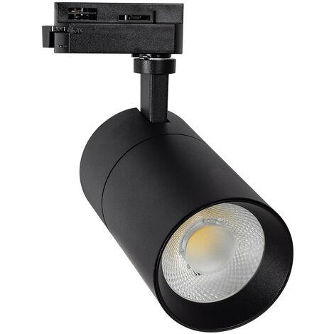Spot LED CCT sélectionnable New Mallet 20 W pour Rail Monophasé