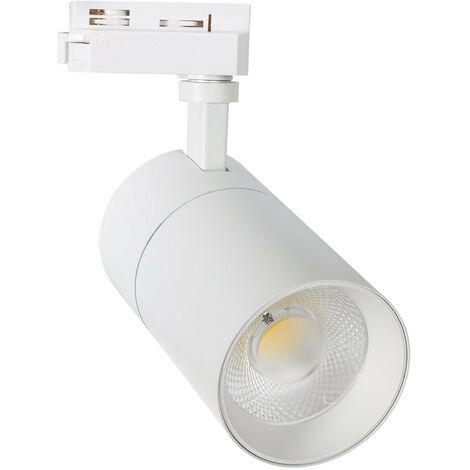 Spot LED CCT sélectionnable New Mallet 30 W pour Rail Monophasé