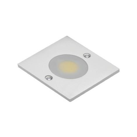 SPOT LED COB CARRE BLANC CHAUD 1 DIODE LED COB 3W 280LM 60x60x5MM CONNECTEUR MINI AMP