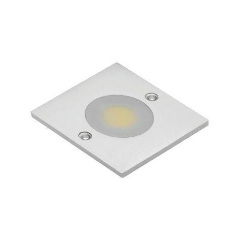 SPOT LED COB CARRE BLANC FROID 1 DIODE LED COB 3W 280LM 60x60x5MM CONNECTEUR MINI AMP
