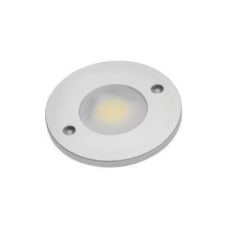 SPOT LED COB ROND BLANC FROID 1 DIODE LED COB 3W 280LM 60x60x5MM CONNECTEUR MINI AMP