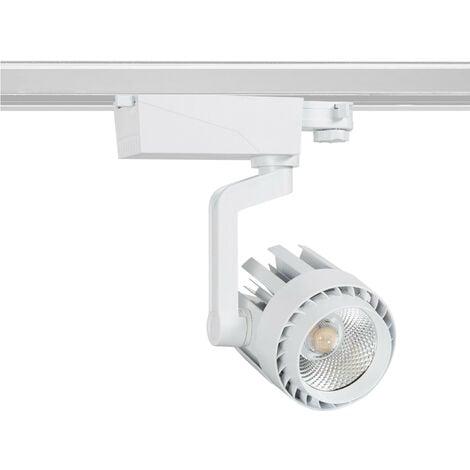 Spot LED Dora 30W Blanc pour Rail Triphasé