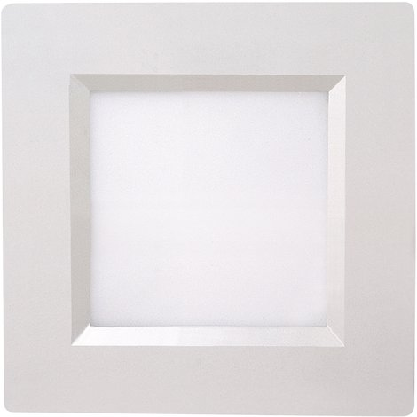 Spot LED downlight carré 6W IP20 3000K
