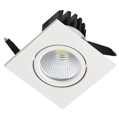 Spot LED downlight carré blanc 3W (Eq. 25W) Dim 62x62mm