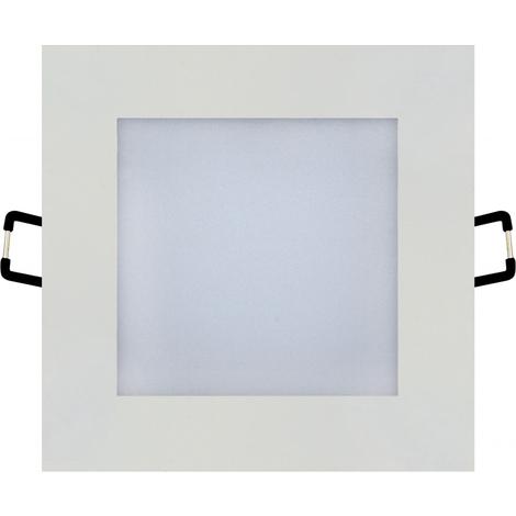 Spot LED downlight carré blanc 6W (Eq. 48W) 6000K Dim 108x108mm