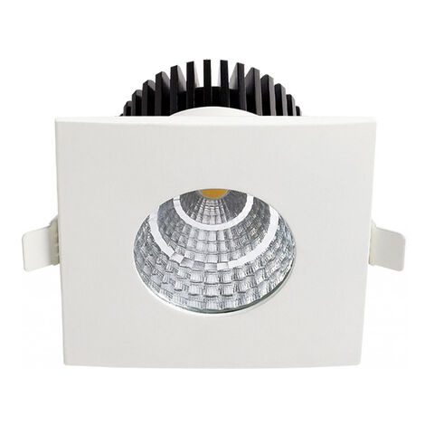 Spot LED downlight carré blanc étanche 6W (Eq. 48W) Dim 90x90mm