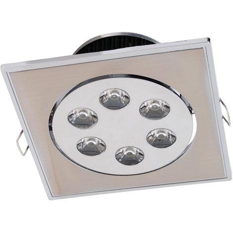 Spot LED downlight carré orientable 6W (Eq. 75W) 120x120mm