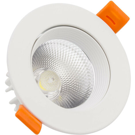 Spot LED Downlight COB Orientable Rond 15W Blanc Blanc Froid 6000K - Blanc Froid 6000K