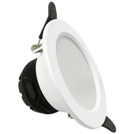Spot LED Downlight Encastrable 6W Rond Blanc - Blanc Neutre 4000K - 5500K