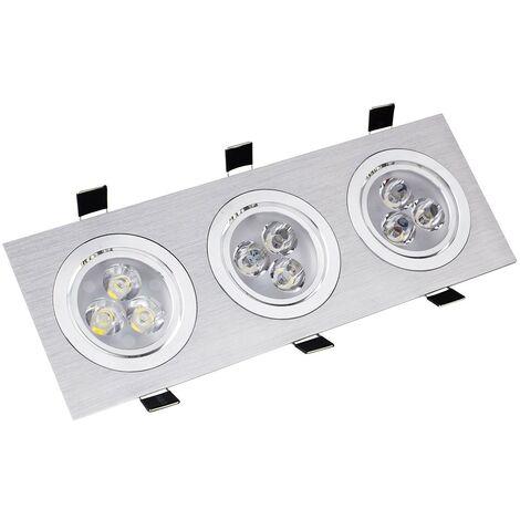 Spot LED Downlight Orientable Rectangulaire 3x3x1W