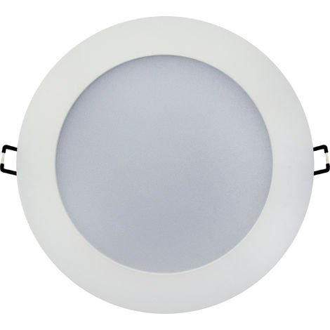 Spot LED downlight rond blanc 15W (Eq. 144W) 6000K Diam 177mm