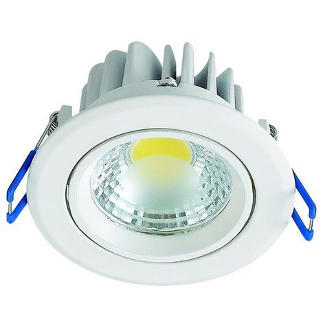 Spot LED downlight rond blanc 3W (Eq. 25W) Diam 90mm